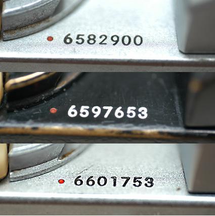 Nikon F Serial Number Markings